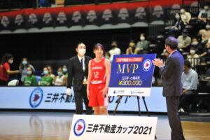 三井不動産カップ2021 MVP三好南穂